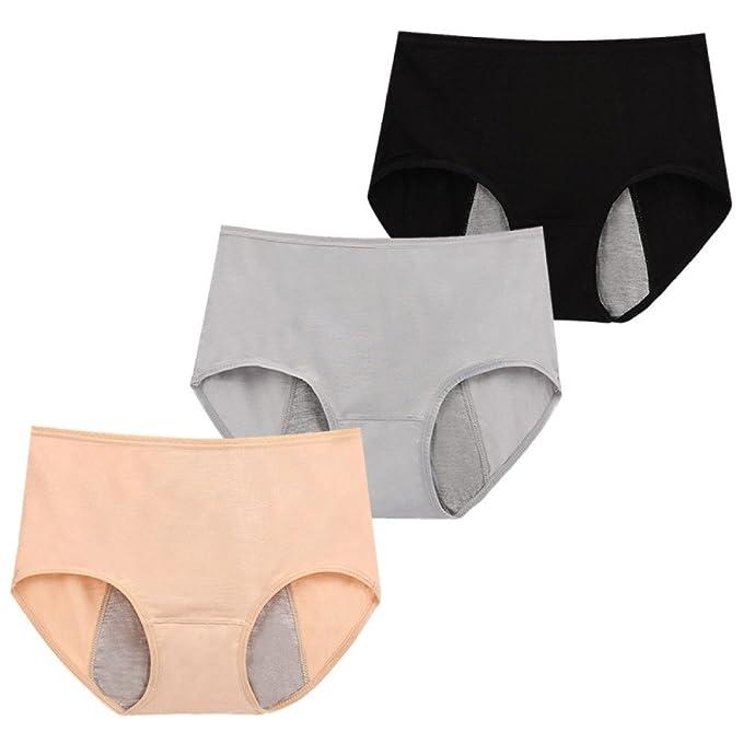 ZHXUANXUAN 3 Bolsas De Pantalones De Las Mujeres Ropa Interior De Menstruación Pantalones Cortos Sin Costura