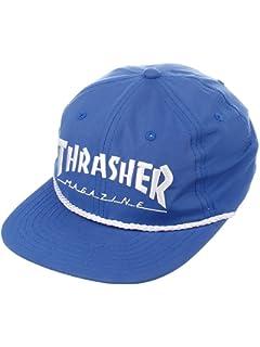 Amazon.com  Thrasher Magazine Rope Black   Gold Snapback Hat ... 961fcce30a10