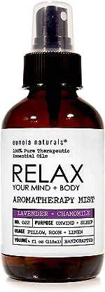 Relax- Lavender + Chamomile Aromatherapy Mist, Lavender Pillow Spray, Lavender Sleep
