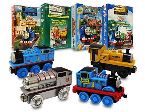 (Thomas and Friends Movie & Train Set Collection # 3 (Thomas and Friends Milkshake Muddle / Thomas, Percy And the Dragon And Other Stories / Railway Friends / Thomas Trusty Friends))