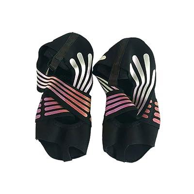 Prom-near Chaussures de yoga Chaussures à semelles souples Chaussures de yoga professionnelles Respirant et confortable Conçu pour la danse du yoga