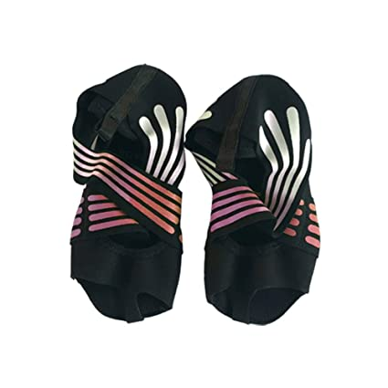 Lacyie Calcetines de Yoga Antideslizantes para Mujer, algodón con Media Punta, Agarre Antideslizante, para Yoga, Pilates, Suela de Zapatos para ...