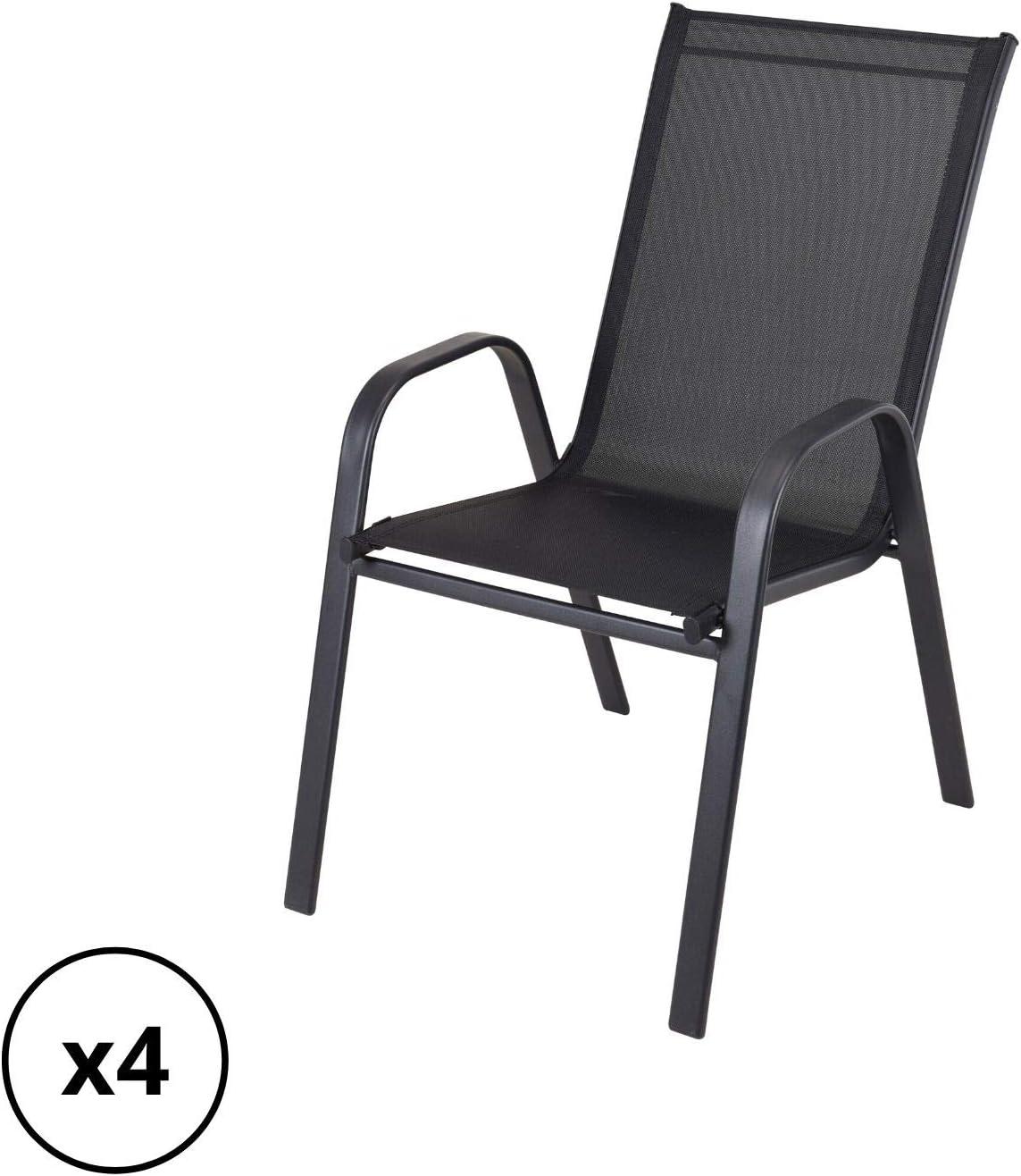 Dawsons Living Stacking Garden Chairs - Relaxing High Back Garden