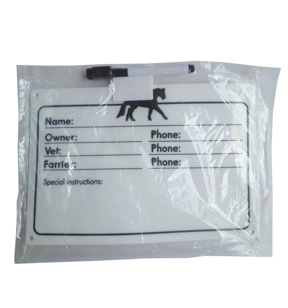 XMGreat Stable Enrollment Board Record Card for Horse (White) by XMGreat