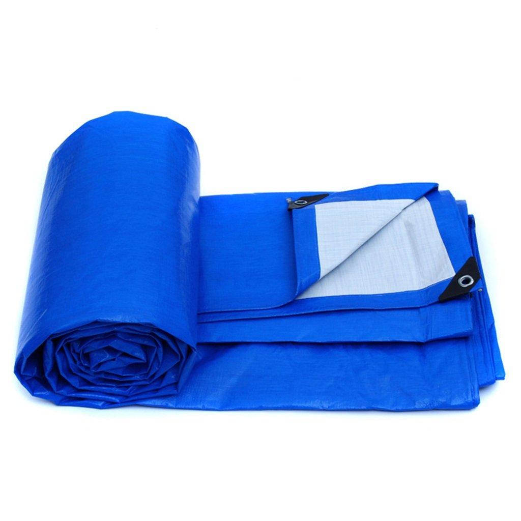 YX-Planen Mehrzweck Plane Wasserdichte Hochleistungsplanen-Zelt-Unterlage für das Kampieren und 155g   m² im Freien - Blau, Stärke 0.28mm, Multi-Größe Wahlen Schutzplane (größe   8MX6M)