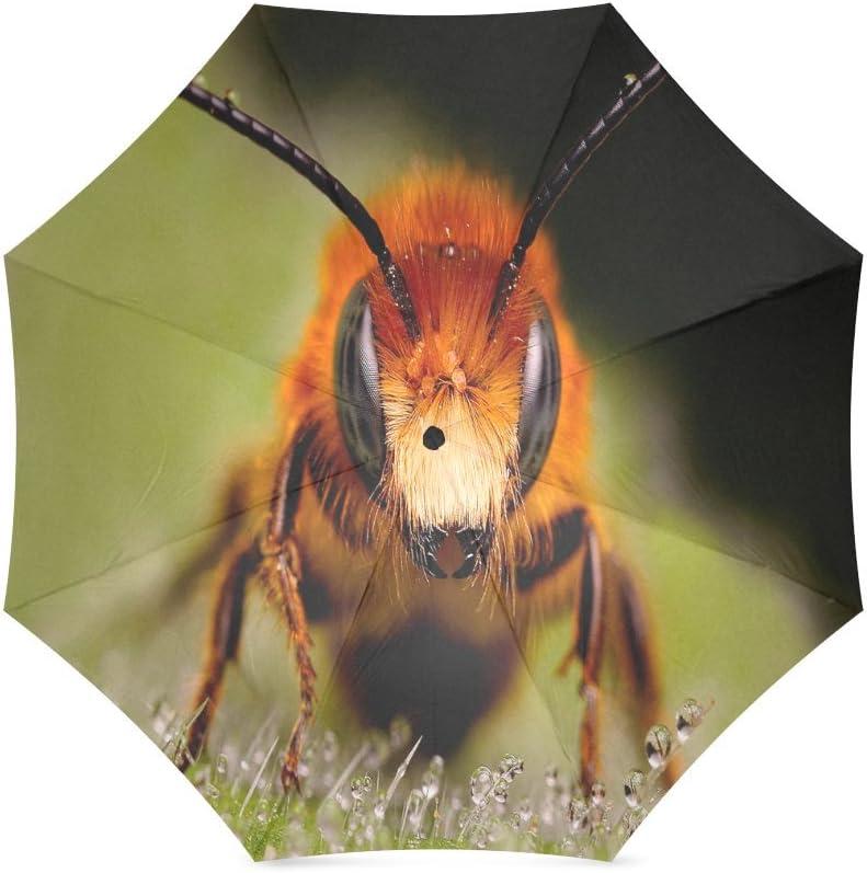 Valentines Day Gift Beautiful Honeybee Compact Foldable Rainproof Windproof Travel Umbrella