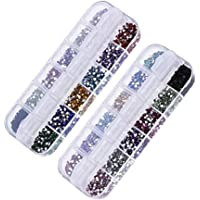 Nail Art Glitters Rhinestones Decoration Mixed 12 Colors 6000pc Nail Beads Stone