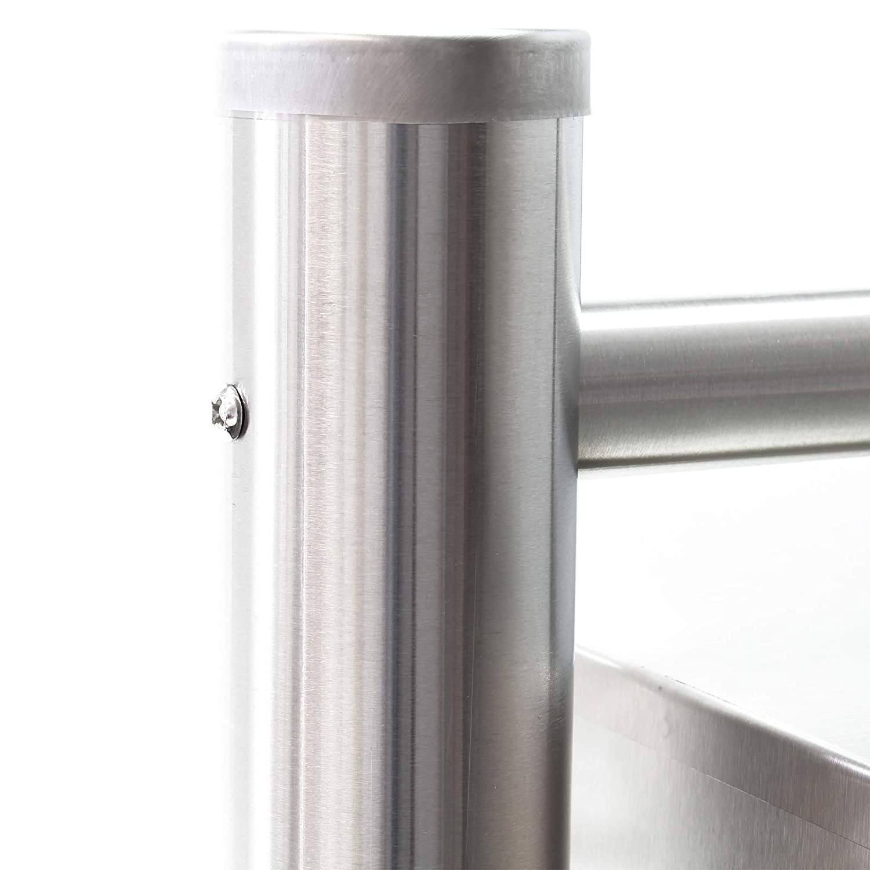 Cassetta postale condominiale acciaio inox 2x4 scomparti con supporto finestrella nome