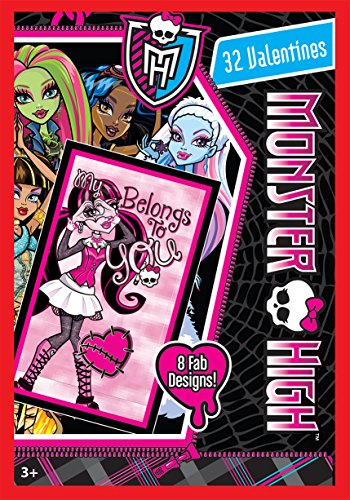 (Paper Magic 32CT Showcase Monster High Kids Classroom Valentine Exchange Cards)