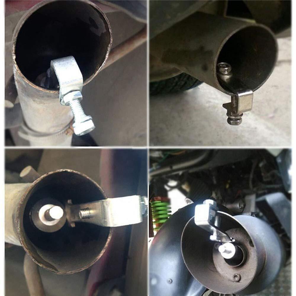 Color : Black, Size : S 2 Pezzi SPRIS Car Turbo Sound Marmitta Tubo di Scarico Car Tuning Turbina Fischietto Tubo di Scarico Blow Vale BOV Simulator Fischio S M X XL