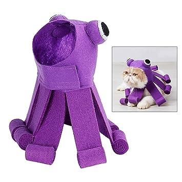 Gatito 1pc de Halloween para Mascotas Sombrero del Gato Diseño del Pulpo  Fiesta de Navidad de 4cb1fce1ffb