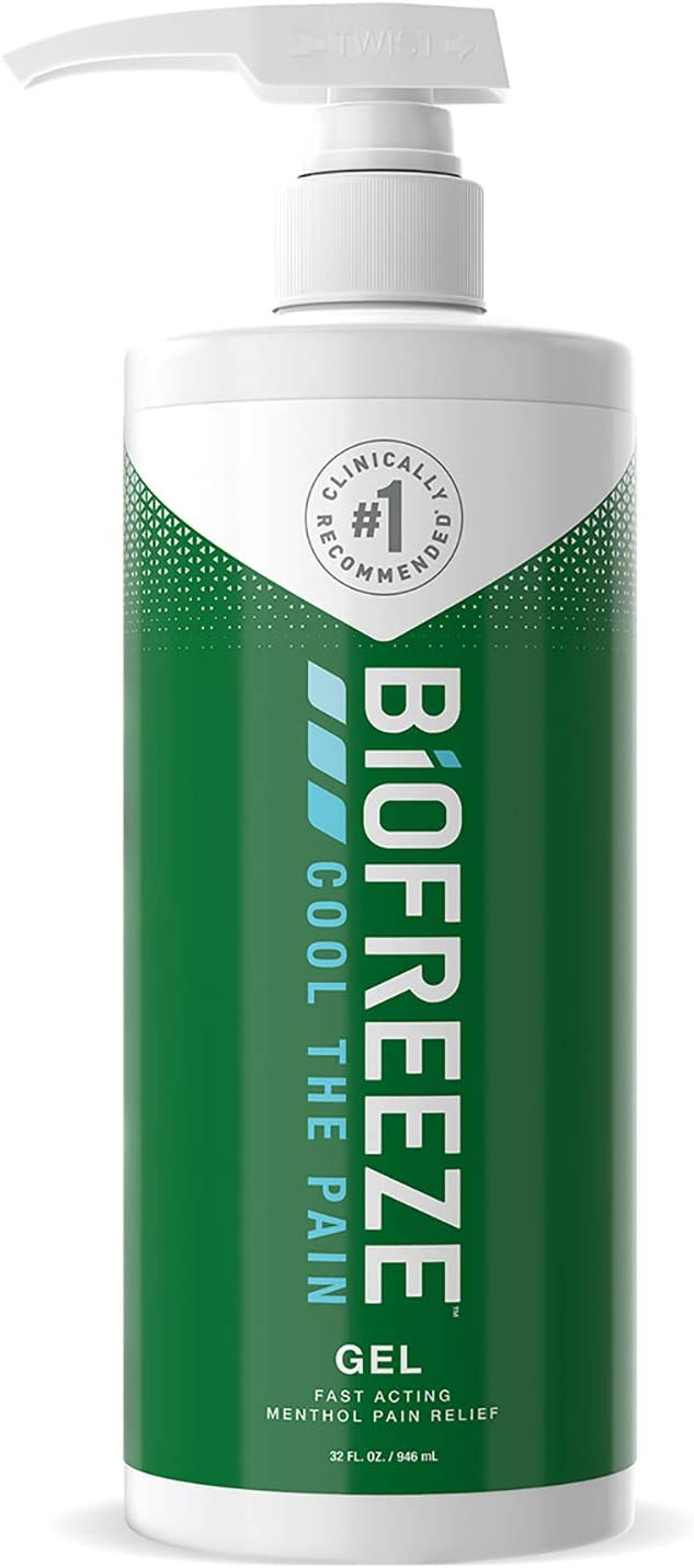Biofreeze Pain Relief Gel, 32 oz. Pump, Green (Packaging May Vary)