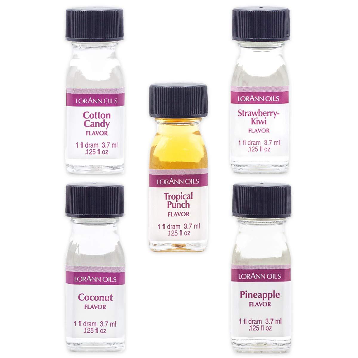 LorAnn Super Strength Variety pack, 1 dram (.0125 fl oz - 3.7ml) bottles - 5 pack