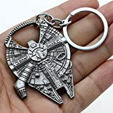Star Wars Beer Bottle Opener Millennium Falcon Metal Keyring Keychain Tool Gift