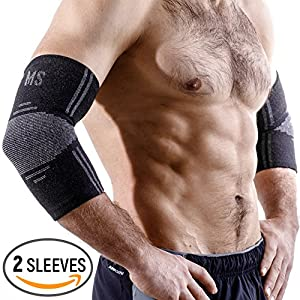 Elbow Sleeve - Compression Sleeve - Elbow Brace - Elbow Support for Women and Men - Golfers Tennis Elbow Brace for Tendonitis - Elbow Pain Treatment for Weightlifting Sport Workout Bursitis Arthritis