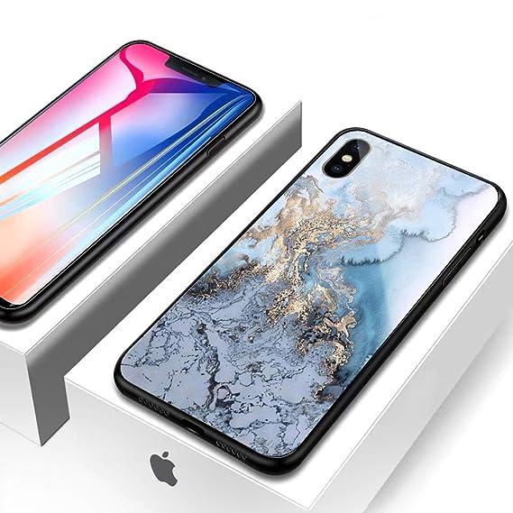 purchase cheap da8c6 33fc4 Amazon.com: TPU Soft Phone Case for iPhone X/iPhone Xs - Marble ...