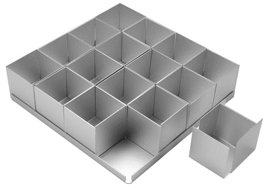 Alan Silverwood 16 piece Square Multi Cake Pan Set 2'' by Alan Silverwood