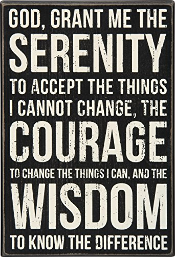 Primitives by Kathy Serenity Prayer Box Sign (Sign Prayer)