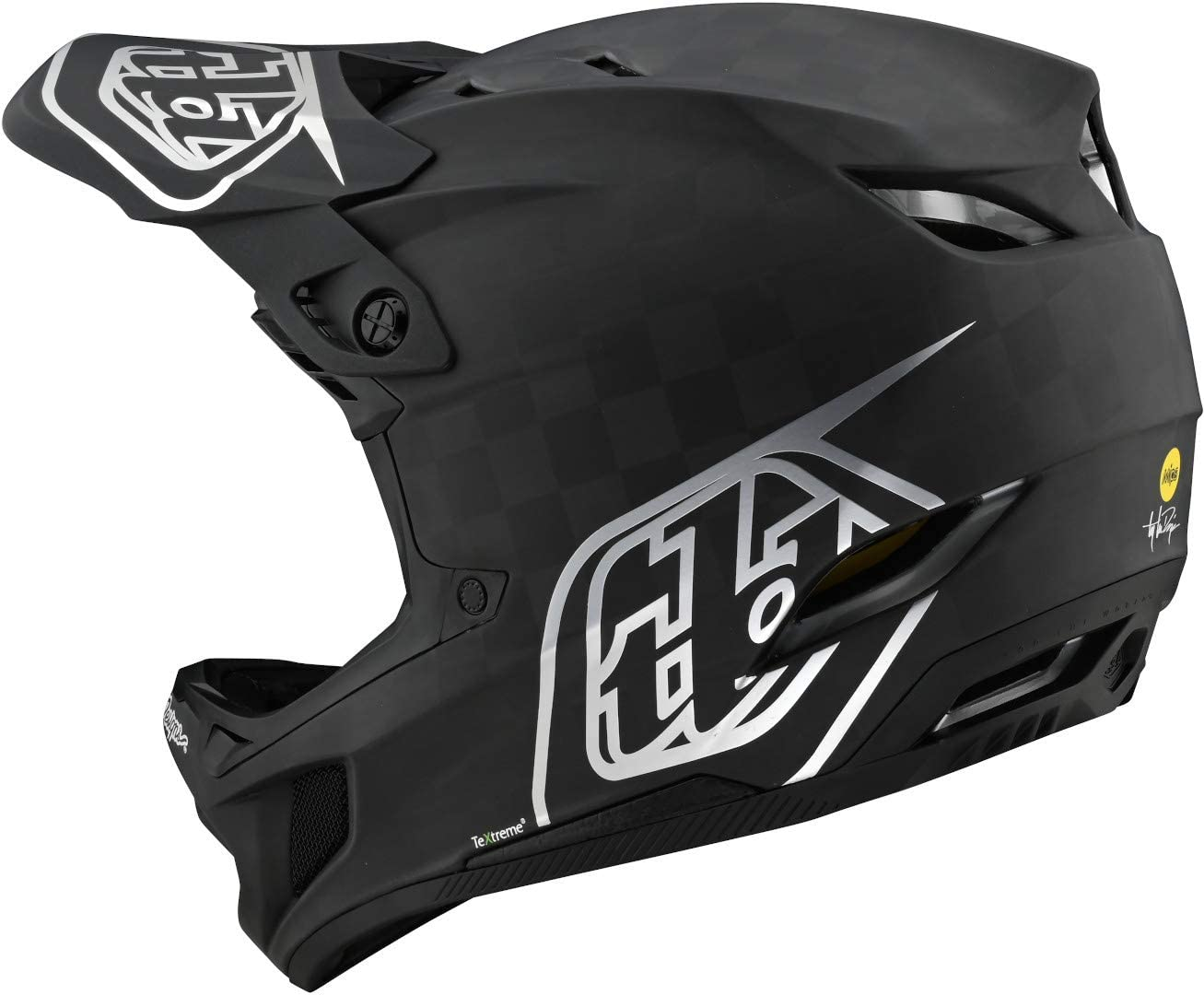 Troy Lee Designs D4 Carbon Stealth Adult Off-Road BMX Cycling Helmet