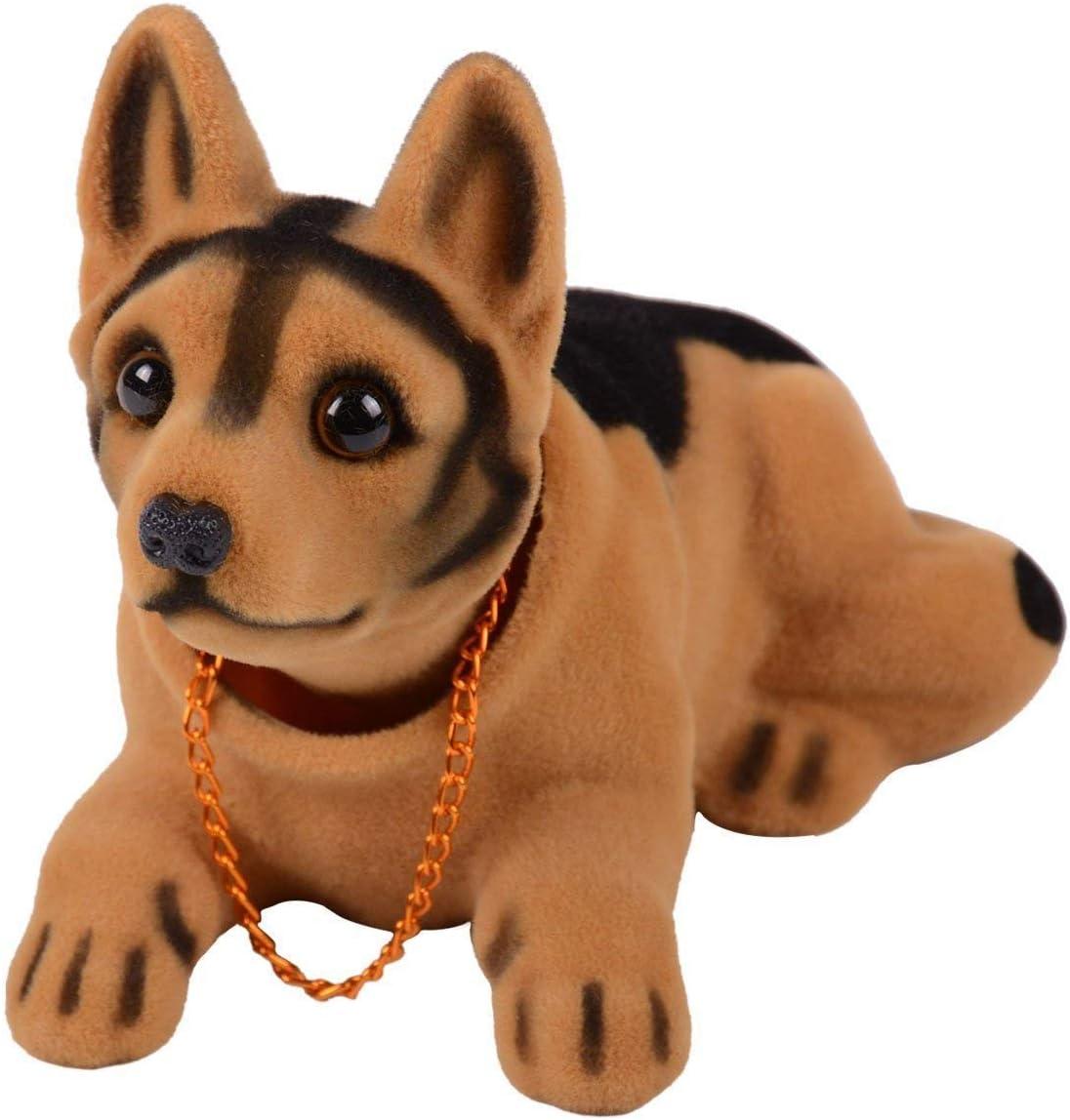Sopito Decorazione per auto cane Shepherd bianco nero che muove la testa con perline profumate
