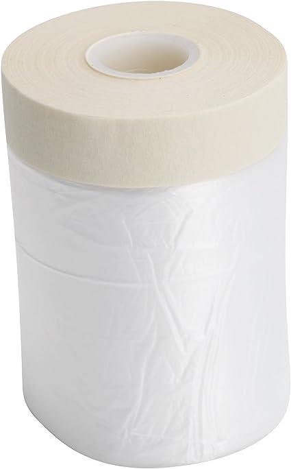 klebemeister.eu 55cm x 25m 6x Telo Protettivo Filmico con Nastro foglio di copertura con nastro adesivo