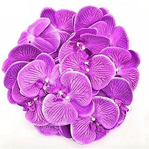 100pc 10cm moth orchid flowers Sakura Emulate Artificial Fake Green Pot Plants 79