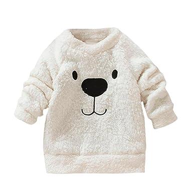 Abrigo Caliente Bebé, Internet Bebé De Felpa De Peluche Blusa De Oso Suéter Grueso Abrigo