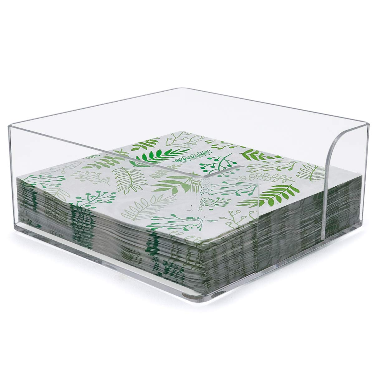 Napkin Holder, Clear Acrylic Cocktail Napkin Holder for Restaurant,Office,Party,Home Table - SupperAcrylic