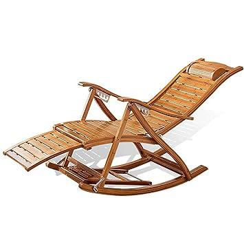 Cómoda silla mecedora con apoyabrazos y reposapiés de masaje ...