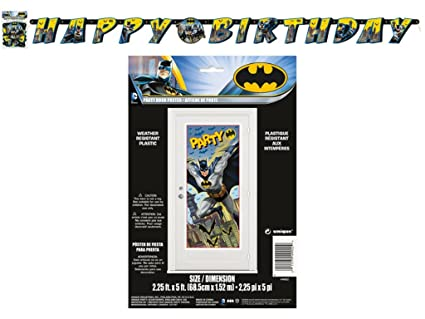 BT Batman 27 x 60 Party Door Poster Jointed Banner