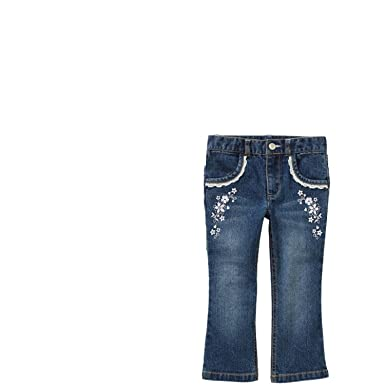 Gucci - Girls Embroidered Jeans | Childrensalon