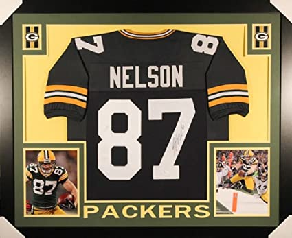 b6442dda56 Jordy Nelson Signed Green Bay Packers 35x43 Custom Framed Jersey (JSA COA)  at Amazon's Sports Collectibles Store
