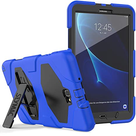 outlet store 52dd4 63e88 Galaxy Tab A 10.1 Case SM-T580/T585/T587 - SEYMAC Heavy Duty Full Body  Rugged Stand Cover with Built-in Screen Protector for Samsung Galaxy Tab A6  ...