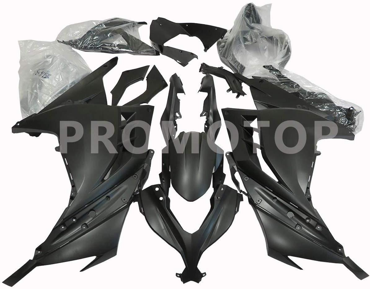 PROMOTOR Motorcycle Fairing Kit Matte Black Fairings for Kawasaki Ninja 300 EX300 EX300A EX300B 2013 2014 2015 2016 2017