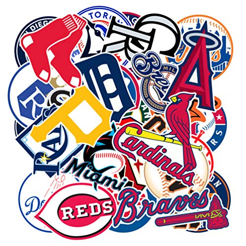 Baseball Sports Laptop Stickers Cool Vinyl Waterproof Skateboard Pad MacBook Car Snowboard Bicycle Luggage Decal 30pcs Pack]()