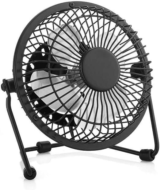 Taoxia Aspas del Ventilador de Escritorio Flujo de Aire Mejorado Ruido Inferior Diseño de Metal Mini Ventilador de ...