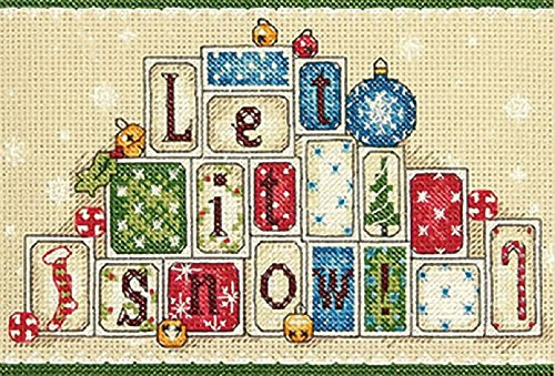 Dimensions Let it Snow Counted Cross Stitch Kit, 14 Count Natural Aida, 7'' x 5''