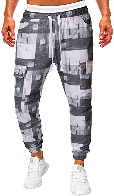 Tefamore Pantalones Deporte Hombre Chándal Pantalón Pantalones ...