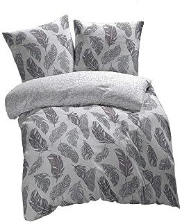 Bedsure Baumwolle Bettwäsche 155x220 Cm Graubeige Bettbezüge Mit