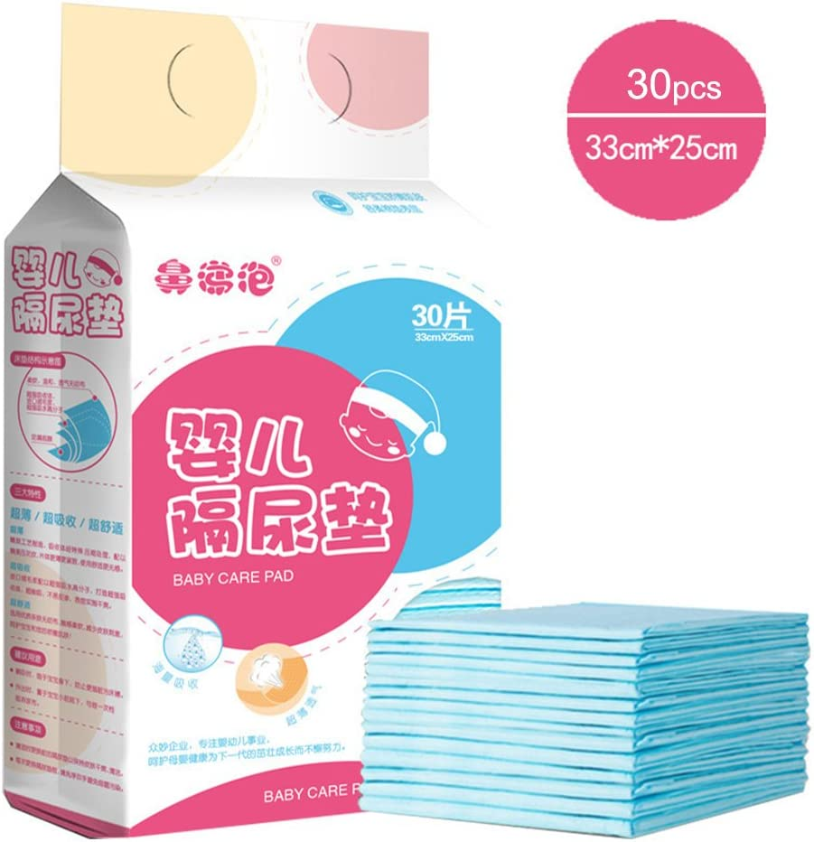30 PCS Baby Diaper Changing Pads Waterproof Breathable Disposable Underpad Portable Mattress Leak-Proof Incontinence Pad for Adult Child 30 PCS or Pets by Pueri