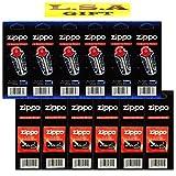 Zippo Lighter 6 Flints 6 Wicks Pack of 12 Value