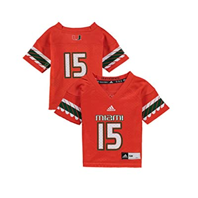 #15 Miami Hurricanes Adidas Youth Football Jersey