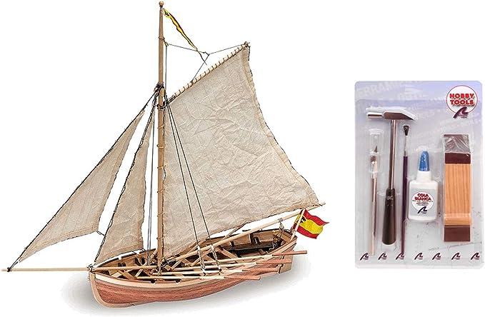 Artesania Latina 18010. Maqueta de barco en madera. Lancha del San Juan Nepomuceno. Escala 1/25 + Multiherramienta 4 en 1: Amazon.es: Juguetes y juegos