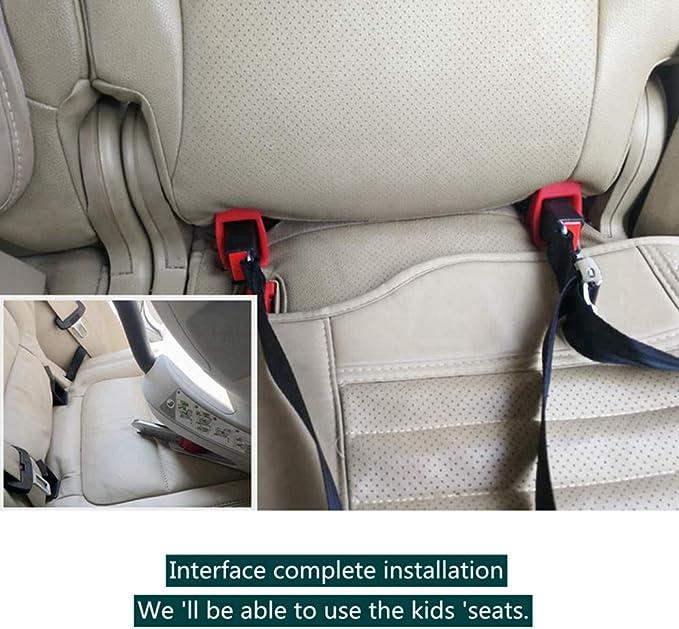 Kkmoon Auto Kindersitz Halter Universal Metall Sicherheitssitz Halterung Für Isofix Gurtverbinder Sicherheitsgurtverriegelung Für Kindersicherheit Bei Kompakten Suvs Schrägheckmodellen Auto