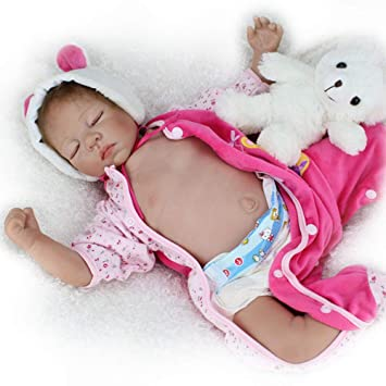 Amazon.es: SYP 50 cm 20 Inch del Oso de la Bebé Reborn Niña ...
