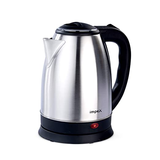 Impex STEAMER-1.2 Litre Stainless steel Electric Kettle (1500 Watts,Silver) Kettles at amazon