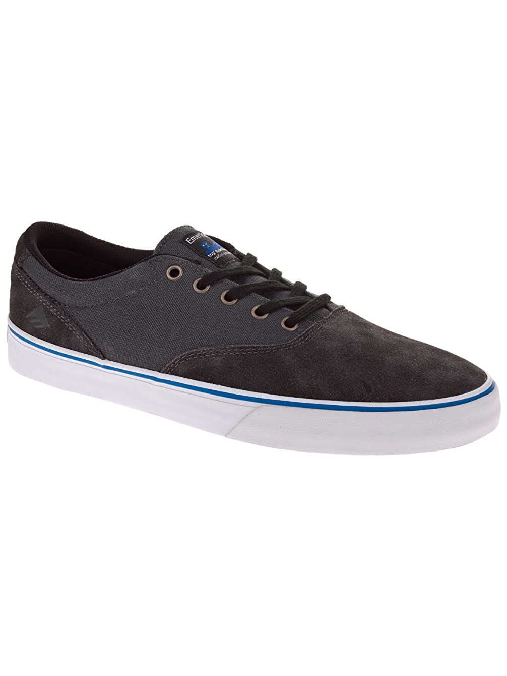Amazon.com: Emerica Provost Slim Vulcxtoy Machine Size 7 Black/Grey Skate Shoes: Shoes