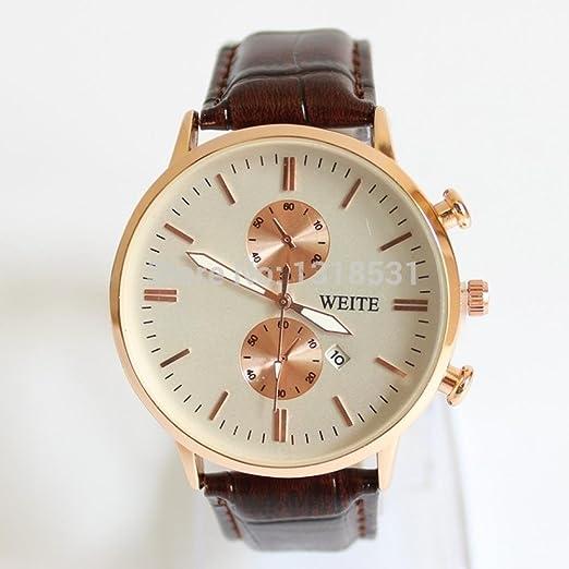 El mundo de la moda y la belleza de regalo de color marrón correa de reloj