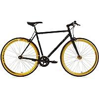 "KS Cycling Pegado 103R Vélo fitness fixie Noir 28"""