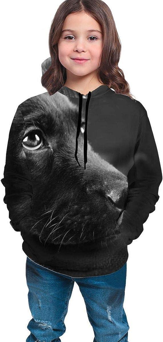 Kjiurhfyheuij Teens Pullover Hoodies with Pocket Lovely Labrador Dog Fleece Hooded Sweatshirt for Youth Kids Boys Girls